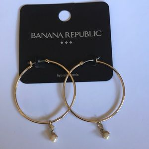 Banana Republic Gold Hoops
